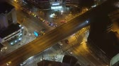 street view : urban car traffic at night. a lively metropolis on top