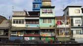 yerleşim : Traditional houses in a residential area of Bangkok close up, local culture