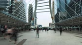 city dweller : Ð¡ity dwellers going through a busy place in the city center at working day Stock Footage
