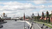 russo : Overview of downtown Moscow with Kremlin and Temple of Christ the Savior