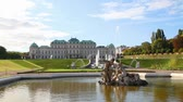 viyana : Belvedere palace in Vienna, Austria on a sunny day