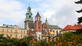 tégla : Wawel Cathedral at Wawel Hill in Krakow, Poland on a sunny day