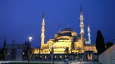 turečtina : Sultan Ahmed Mosque (Blue Mosque) in Istanbul at the night time