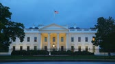 The White House building in Washington, DC in the evening