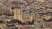 Aerial view of Notre Dame de Paris cathedral