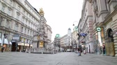 VIENNA - OCTOBER 20: The Pestsaule (Plague Column) at Graben street on October 20, 2014 in Vienna. Its one of the most well-known and prominent pieces of sculpture in the city. Wideo