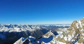 Aerial View Of Snowcapped Mountains In Austria 4K Vidéos Libres De Droits