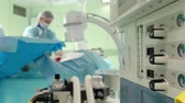 doctor's surgery : medical equipment for anesthesia . Surgeons perform surgery in the operating room.
