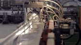 zinco : metal cutting machine close-up back view Stock Footage
