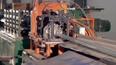 zinco : metal cutting machine close-up 2 Stock Footage