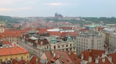 praga : static shot of Prague city in summer from top