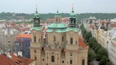 Čechy : top view of Church of Saint Nicholas in Prague from Old clock tower
