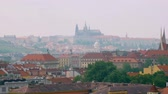 Čechy : epic view of old Prague castle and panorama of city in summer day
