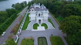 fence : The noblemans estate of the manufacturer Aseev 03. Aerial photography. The house was built in the Art Nouveau style. Stock Footage