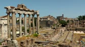 sky : Ruins of the Roman Forum. Italy. Stock Footage