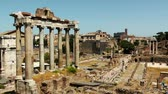 císař : Ruins of the Roman Forum. Italy. Time lapse video.