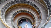 pope : Famous double spiral staircase at the exit Vatican Museum Rome Italy