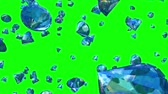 zdraví : Diamonds Falling on Greenscreen (Loop). Seamlessly loopable realistic animation of falling diamonds. You can   replace background with your own footage or graphics.
