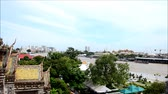 praya : Viewpoint Chao Phraya River from Prang of Wat Arun in Bangkok Thailand