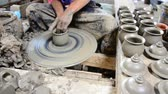 trabalho : Mechanic pottery made earthenware at Koh Kret Island in Nonthaburi Thailand.