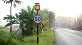 aerial : Traffic sign in morning at Nonthaburi Thailand