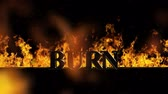 inferno : Burn Burning Hot Word in Fire Stock Footage