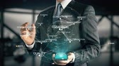 conviction : Businessman with Customer Value hologram concept Stock Footage