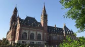 ülések : THE HAGUE, 4 July 2018 - View of the Peace Palace, seat of the International Court of Justice, principal judicial organ of the United Nation located in The Hage, Netherland