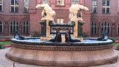 europa : Inner court fountain with polar bear and sea lion fishing and eating salmon