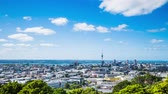 Time Lapse - Ariel View of Downtown Auckland, New Zealand, Stock mozgókép