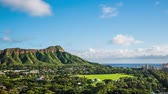 Time Lapse - Cloudscape over Diamond Head in Oahu Hawaii Stock mozgókép