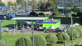 intersection : Timelapse of city gas station at summer, St Petersburg, Russia