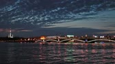 dark : White nights with Trinity Bridge, Saint-Petersburg, Russia