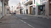 walking : Shops on the Arch. Makarios III avenue in the center of Paphos city, Cyrpus