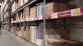 furniture : SAINT-PETERSBURG, RUSSIA - CIRCA JAN, 2015: Storehouse with goods are in Ikea marketplace. Ikea multinational group is the worlds largest furniture retailer. Russian store Stock Footage