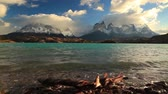 torres : Dramatic dawn in Torres del Paine, Chile
