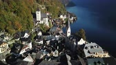 campanário : Beautiful landscape of Hallstatt village and Lake Hallstatt in Austria Vídeos