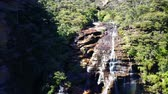 naturalistic : Blue mountains national park. Aerial top view.