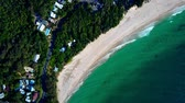 naturalistic : Small coastal city in Australia. Beach. Water. Aerial top view