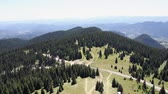 forest : Panoramic view from Snejanka tower in Rhodope mountain, Bulgaria.