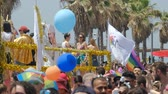 gays : Tel Aviv, Israel , 8 June 2018 Gay Pride Parade for human rights