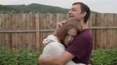 compromise : Man consoling his girlfriend Stock Footage