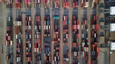 vista desde arriba : Aerial view of loading cargo container ship port in Sriracha industrial port, Chonburi, Thailand. Archivo de Video