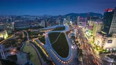 urban development : Dongdaemun town, Dongdaemun Design Plaza, New development in Seoul, designed by Zaha Hadid.