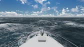 navigation : Sailing in the wind through the waves (HD) Sailing boat shot in full HD at sea