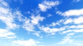 wispy : White clouds disappear in the hot sun on blue sky. Time-lapse motion background