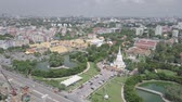 aerial view moving over the temple in the city of Bangkok Thailand Dostupné videozáznamy
