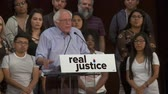 választotta : BROKEN CRIMINAL JUSTICE SYSTEM. Bernie Sanders talks about this nation finally paying attention to these problems. June 2nd, 2018 at the Rally for Justice in downtown Los Angeles, California. Stock mozgókép