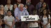 választotta : CRIMINAL JUSTICE REFORM. Bernie Sanders calls for real reform. June 2nd, 2018 at the Rally for Justice in downtown Los Angeles, California.
