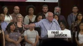 presidential candidate : Municipal Fines. Bernie Sanders says failure to pay shouldnt equal jail time. June 2nd, 2018 at the Rally for Justice in downtown Los Angeles, California.